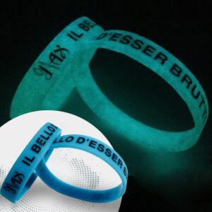 Braccialetti fluo personalizzati discoteca