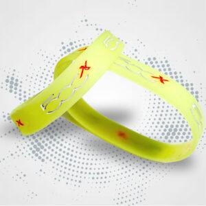 Braccialetto silicone personalizzato colori